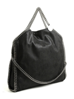 Stella McCartney-falabella three chain black small tote bag 234387 W9132 1000