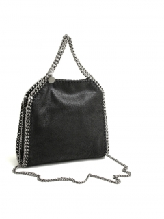 Stella McCartney falabella black mini tote bag